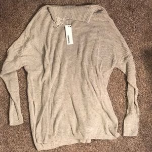 Sonoma grey cowl sweater size large, BNWT